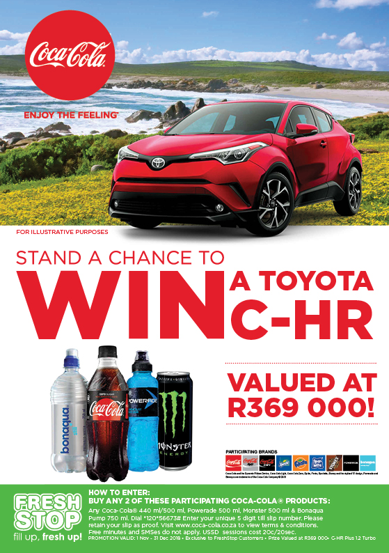 WIN a Toyota C-HR with Coca-Cola and FreshStop - Freshstop